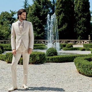 vestito da sposo bianco