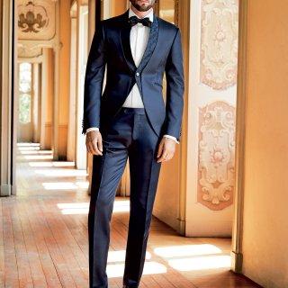 abito sposo blu classico