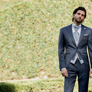 cravatta damascata grigia