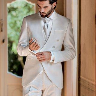 cravattone sposo bianco