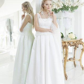 Vestito da sposa plissettato