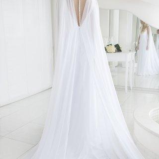 Mantello da sposa in chiffon