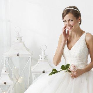 Vestito da sposa corpetto fasciante