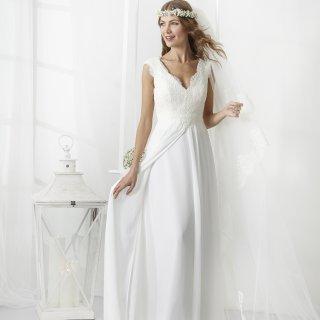 Vestito da sposa lungo scivolato